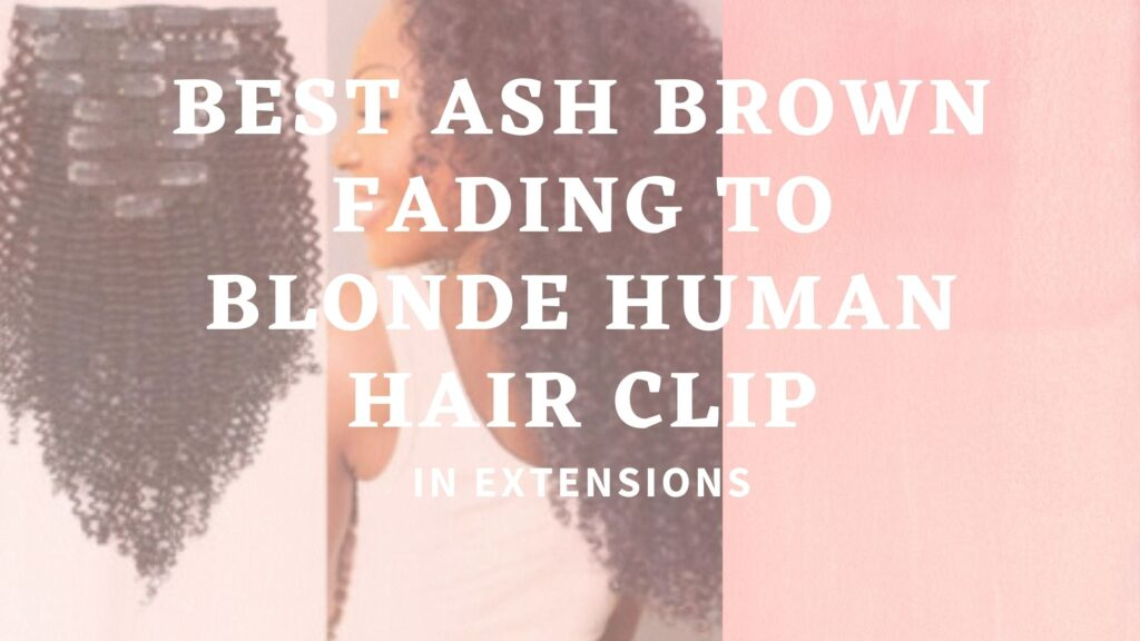 Best Ash Brown Fading to Blonde Human Hair Clip