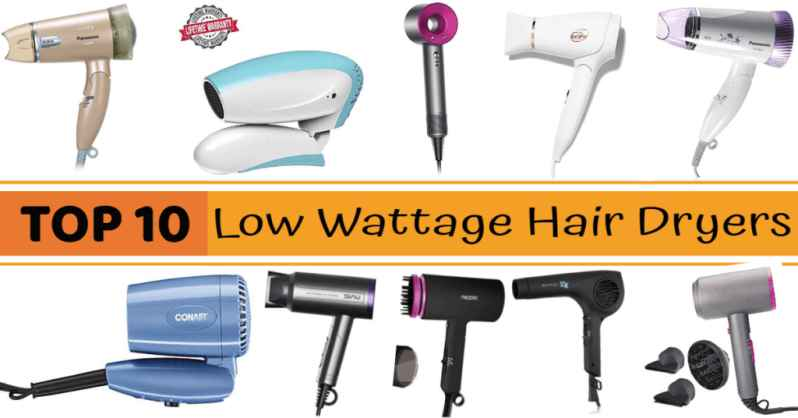 low wattage hair dryer