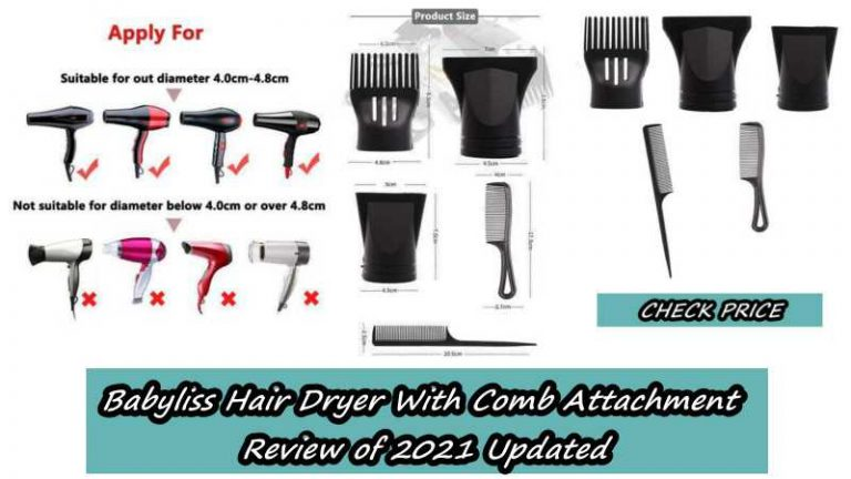 Babyliss Hair Dryer With Comb Attachment Review of 2021 Updated