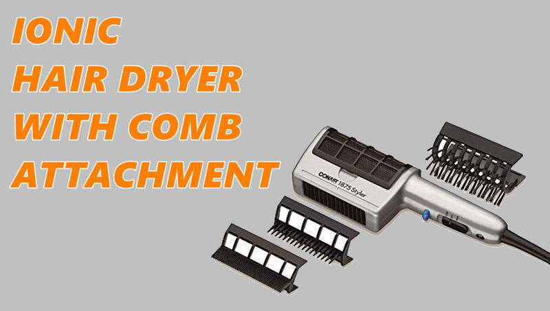 Ionic Hair Dryer With Comb Attachmen